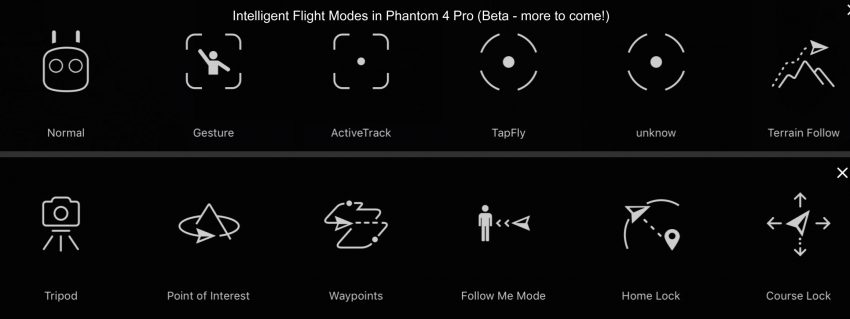 Intelligent Flight Modes in Phantom 4 Pro