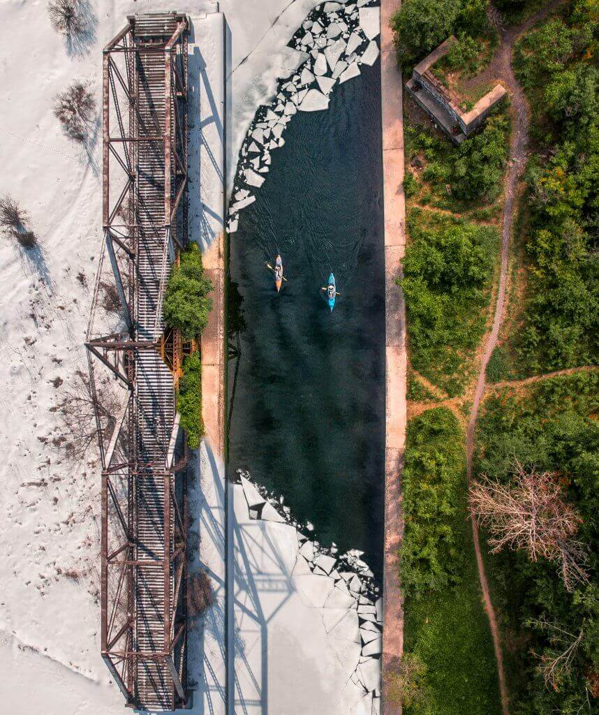 Photo: Winter Canals Composite, Trent Severn Waterway, Canada – Inspire 1 X3
