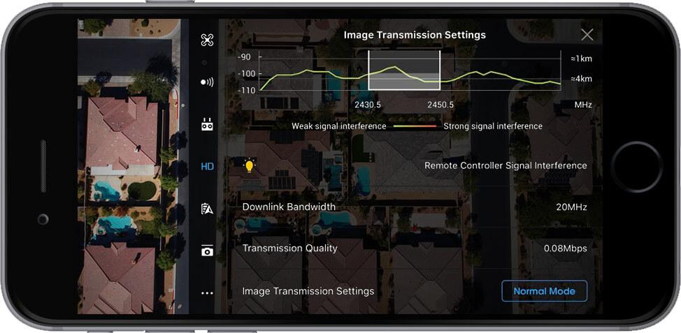 DJI Go 4 Manual Image Transmission Settings