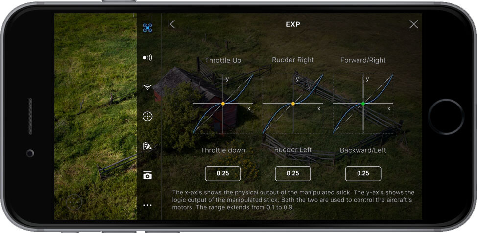 DJI Go 4 Manual Main Controller Settings EXP