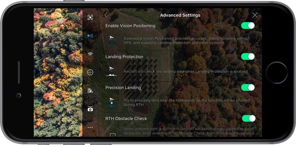 DJI Go 4 Manual Visual Navigation Settings Advanced Settings