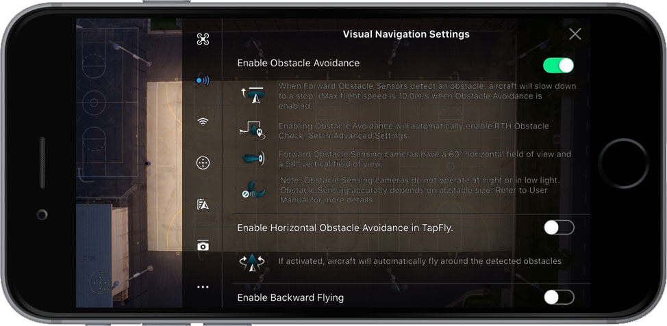 DJI Go 4 Manual Visual Navigation Settings