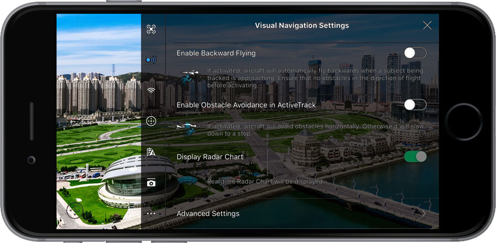 DJI Go 4 Manual Visual Navigation Settings 1