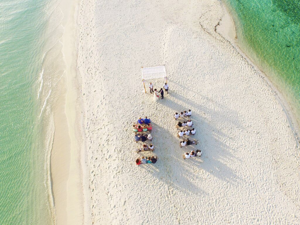 drone wedding photography ideas
