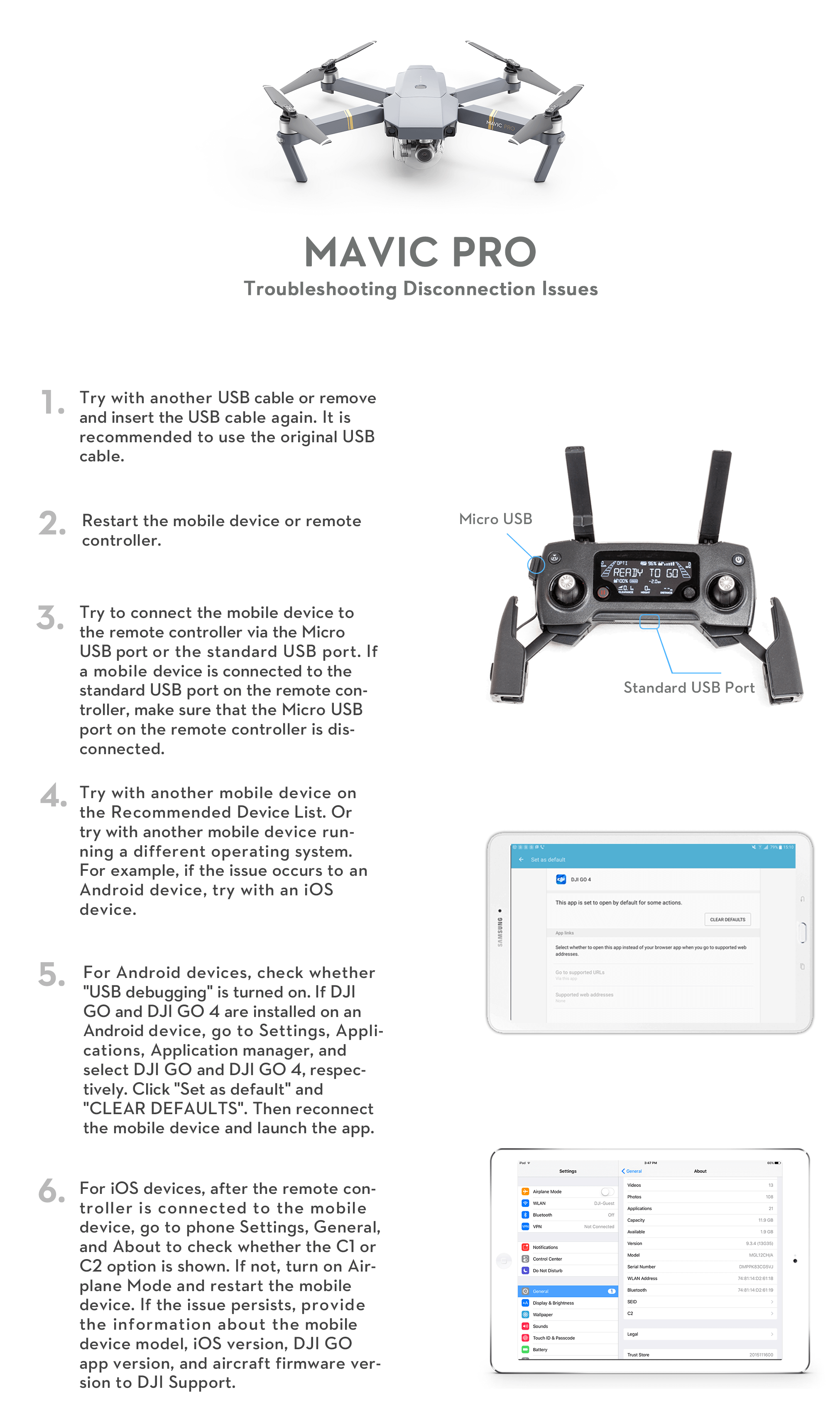 Troubleshooting DJI GO Apps Connection Problems - DJI Guides