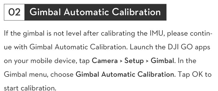 troubleshooting gimbal camera