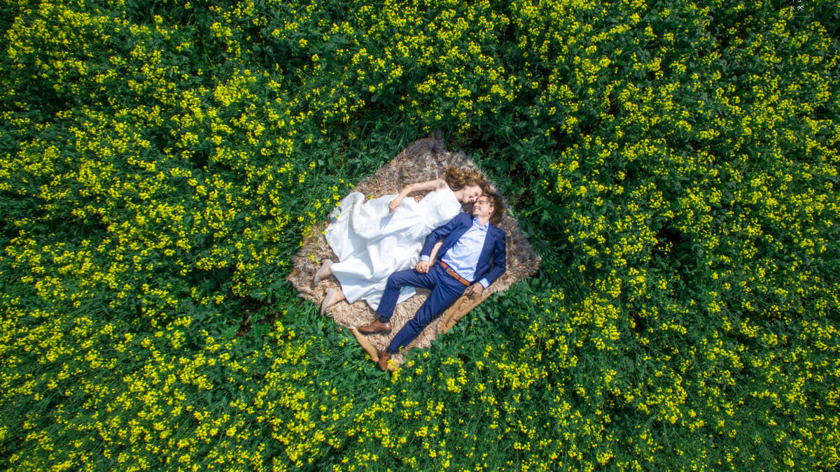 drone pre wedding photography ideas