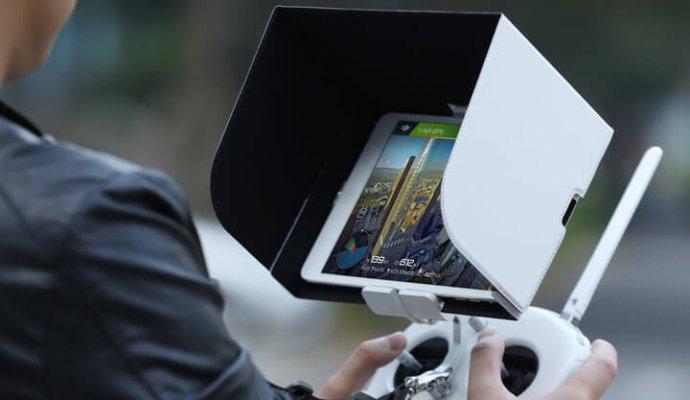 DJI drones attachments remote controller monitor hood-690x400