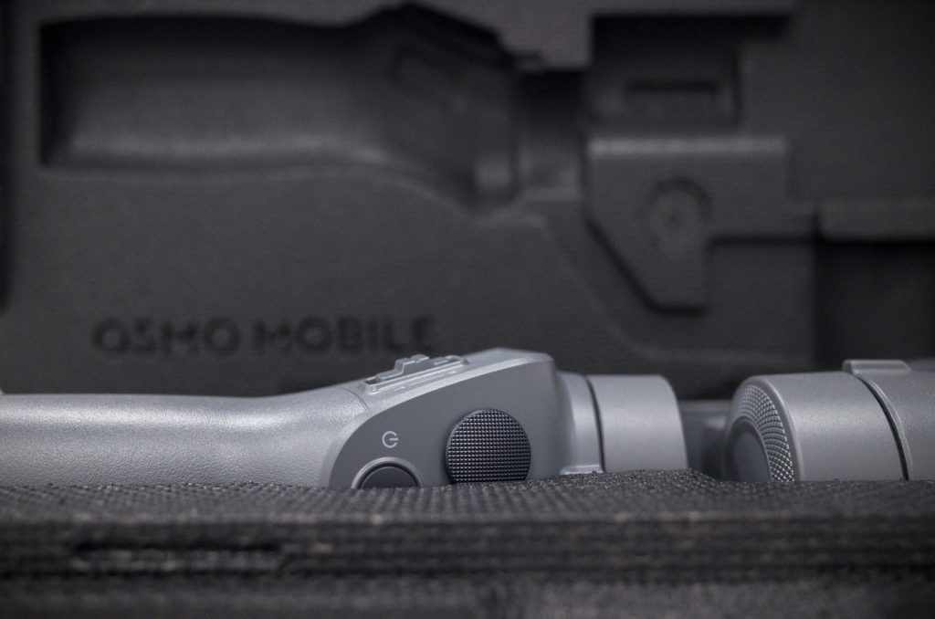 The Osmo Mobile 2 stays nice and safe for transport and storage