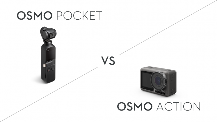 大疆口袋云台相机osmo pocket vs osmo action运动相机