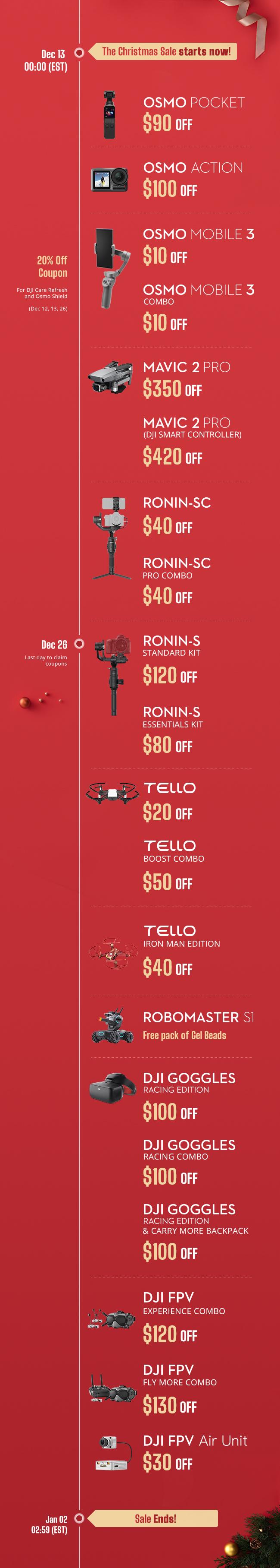 DJI Christmas sale timeline