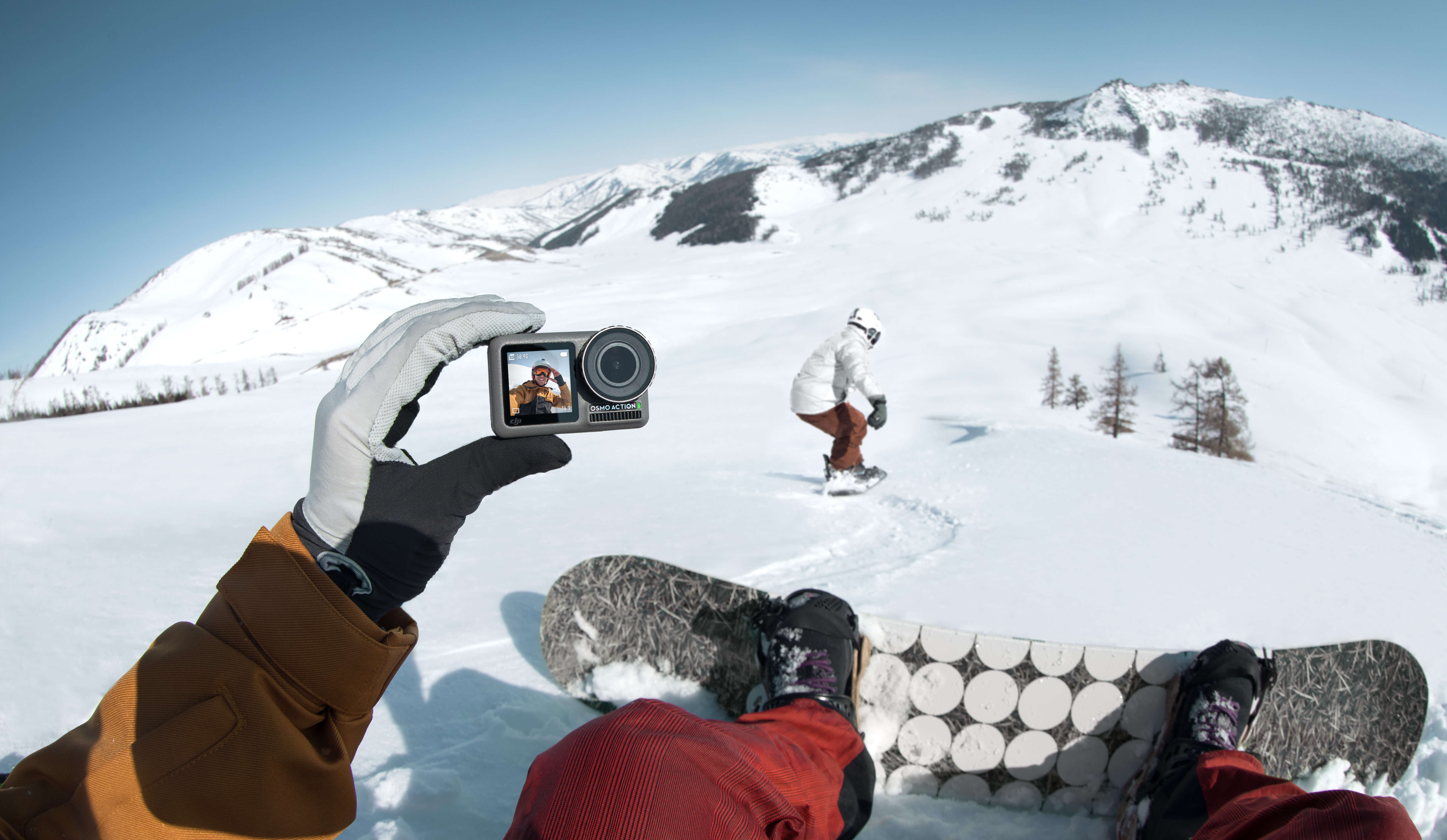 Osmo Action Snowboarding Front Screen