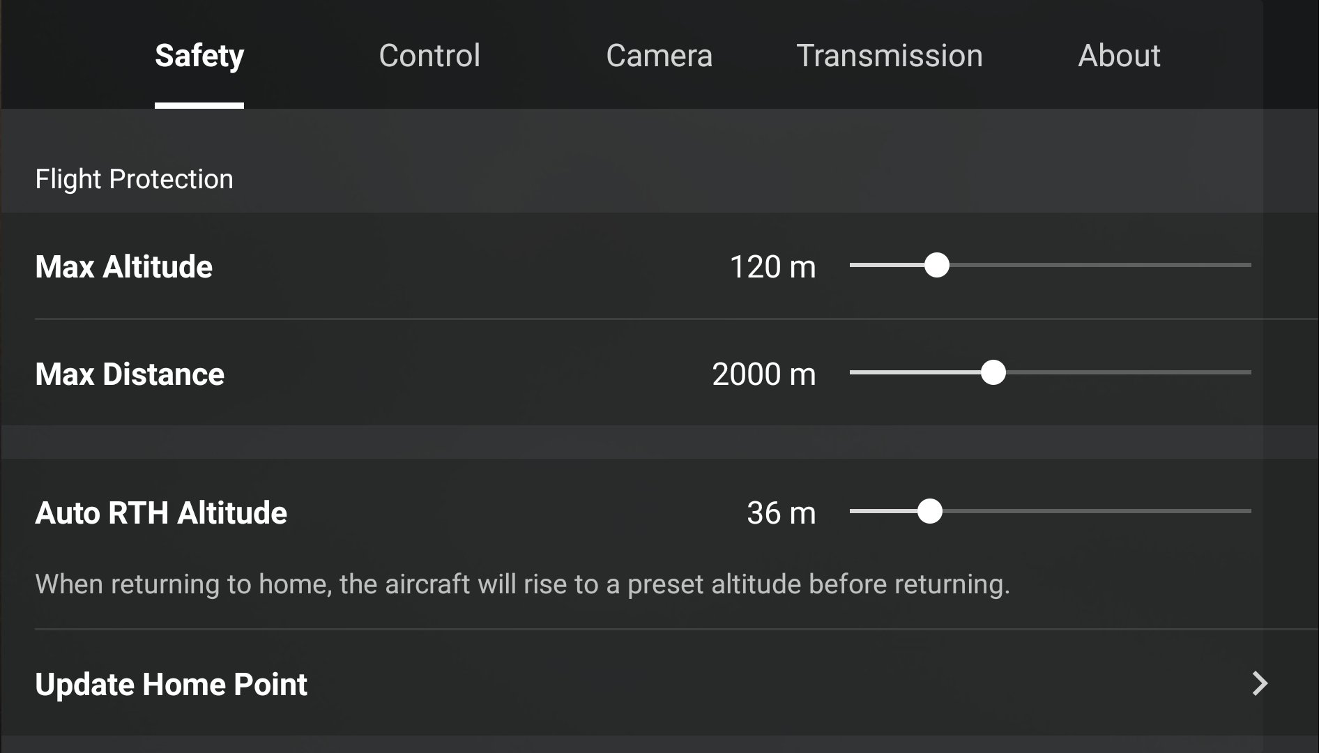 DJI Fly app Safety