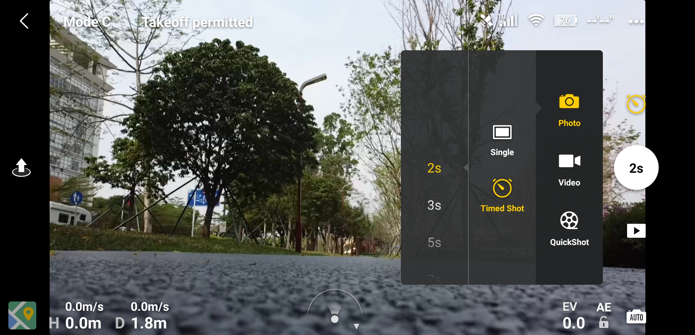 Mavic Mini Photo specs in dji pilot app