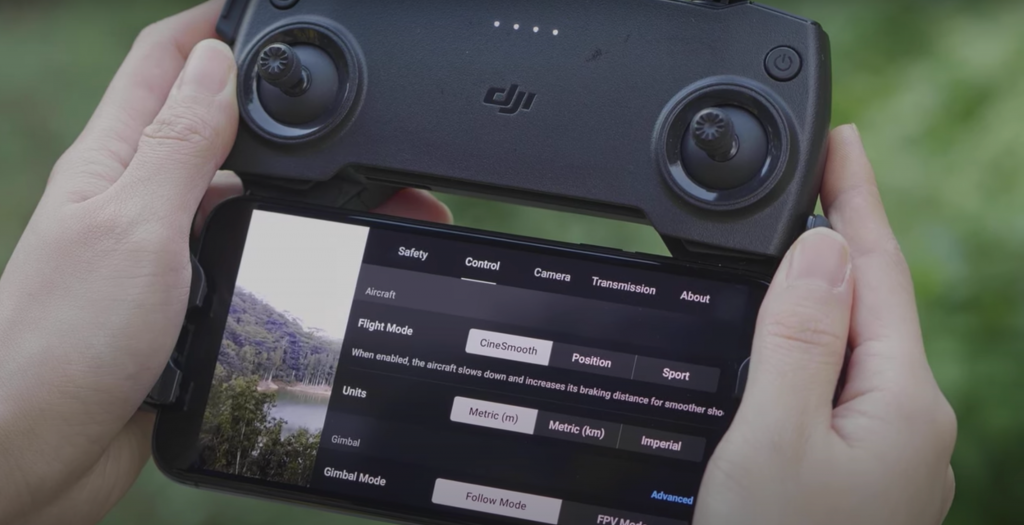 DJI FLY APP CineSmooth Mode