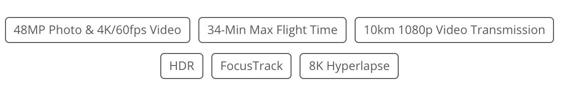 Mavic Air 2 icons