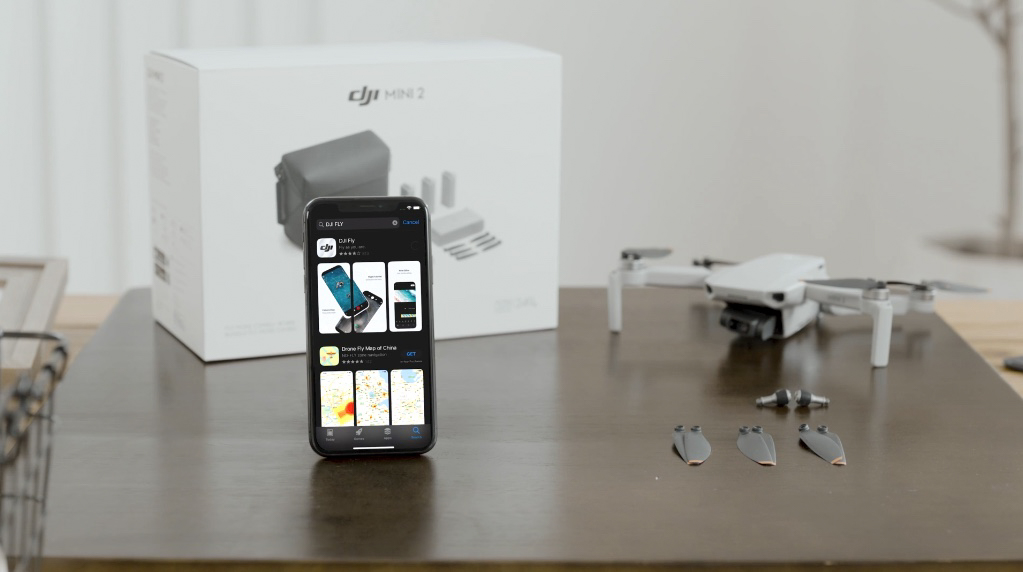 DJI Mini 2 drone & DJI Fly app