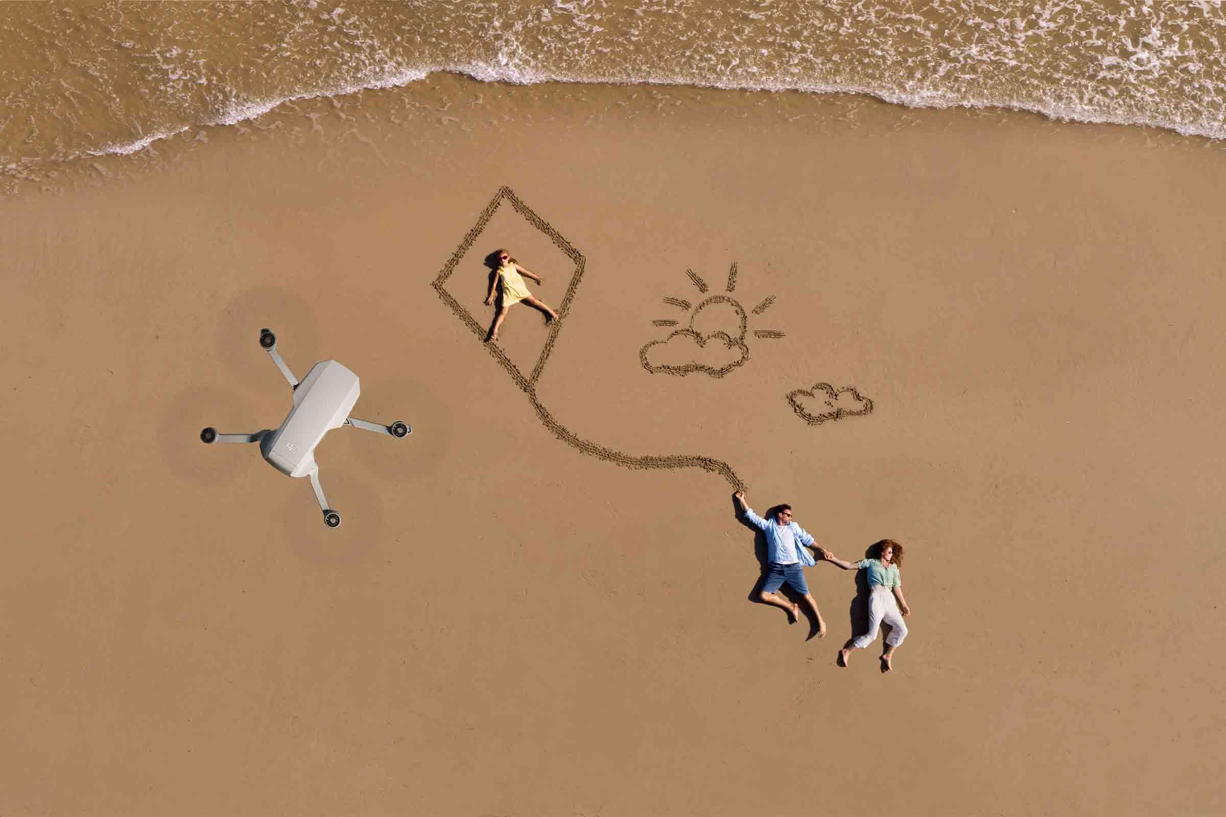 DJI Mini 2 seaside aerial photography