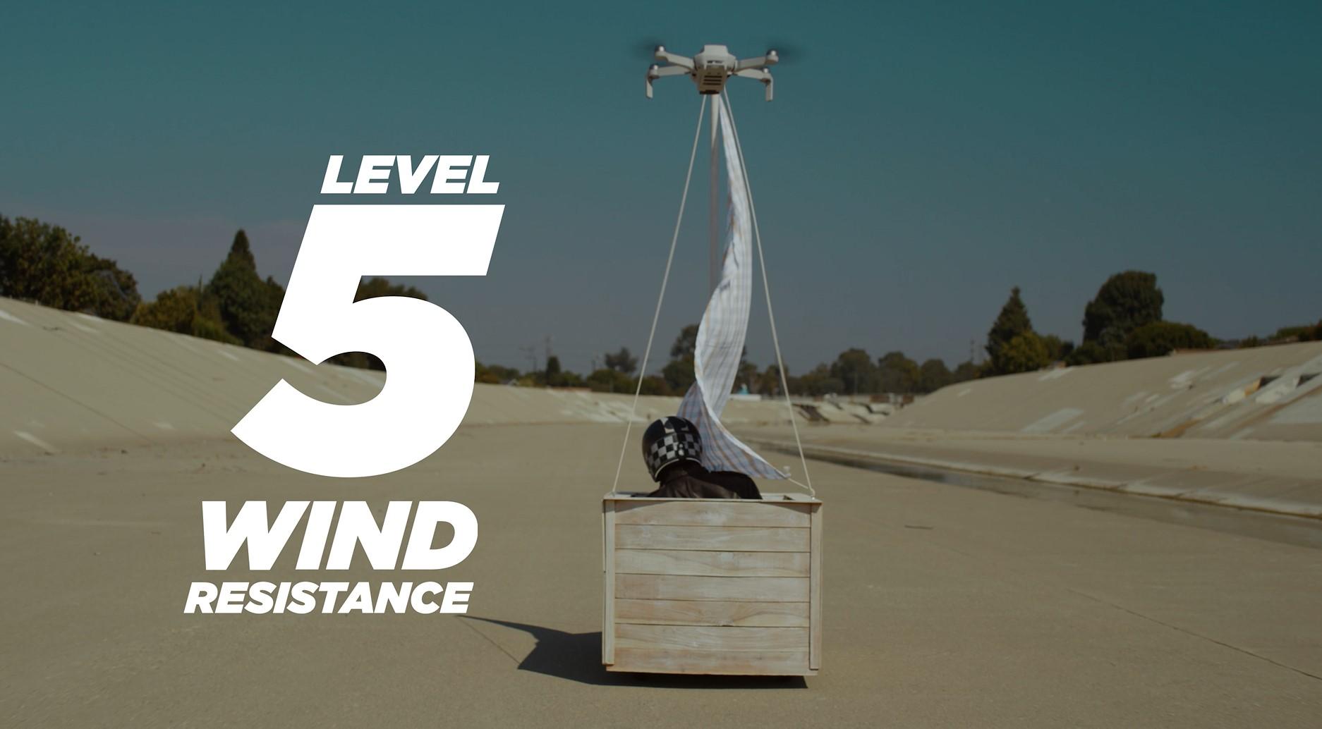 DJI Mini 2 drone wind-resistance