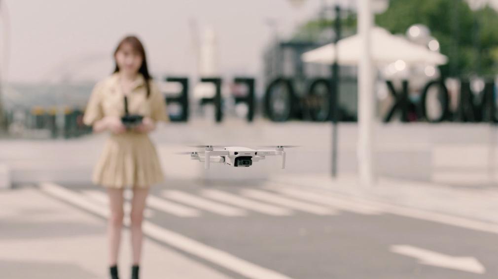 DJI Mini 2 drone flying