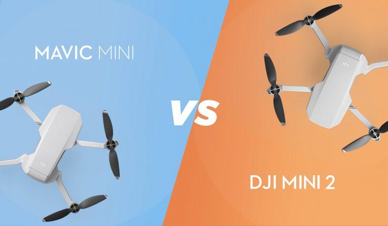 DJI Mini 2 vs Mavic Mini:ベスト ミニドローン 比較