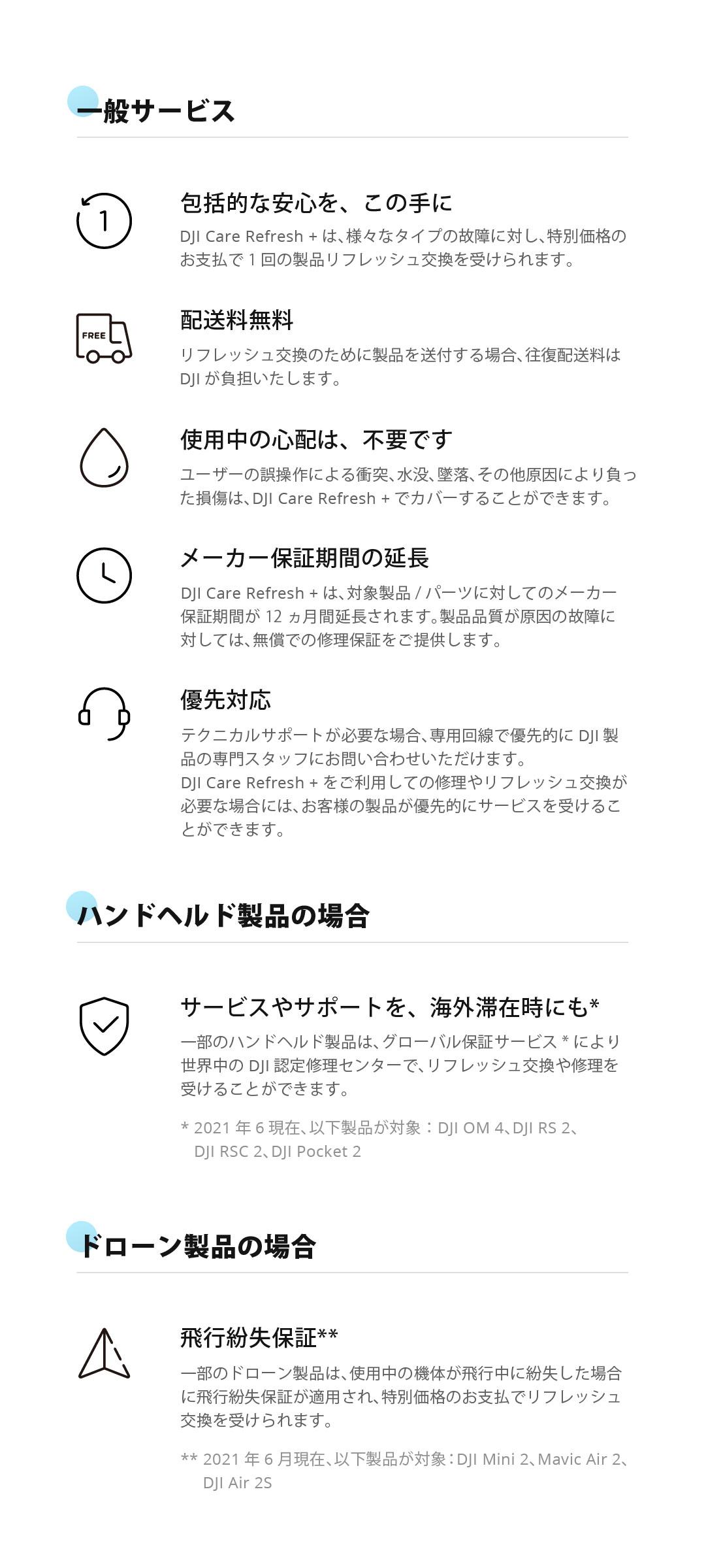 DJI Care Refresh Plus Feature JP