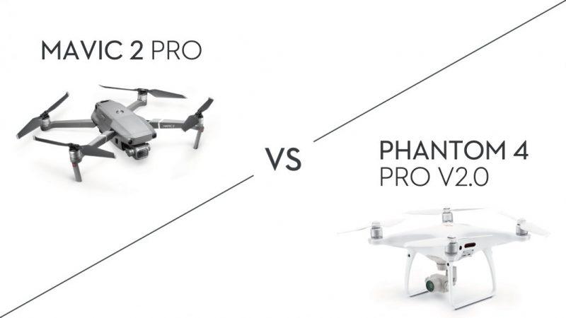 팬텀 4 Pro V2.0 vs. 매빅 2 Pro: 어떤 드론을 살까?