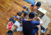 father and son unboxing robomaster s1