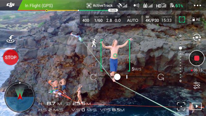 DJI Phantom 4 Pro V2.0 app screeshot