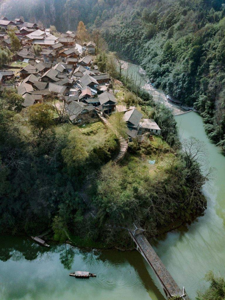 a village in ravine