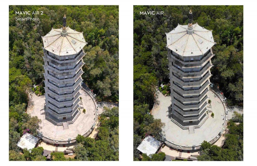Mavic Air 2 SmartPhoto vs. Normal Photo
