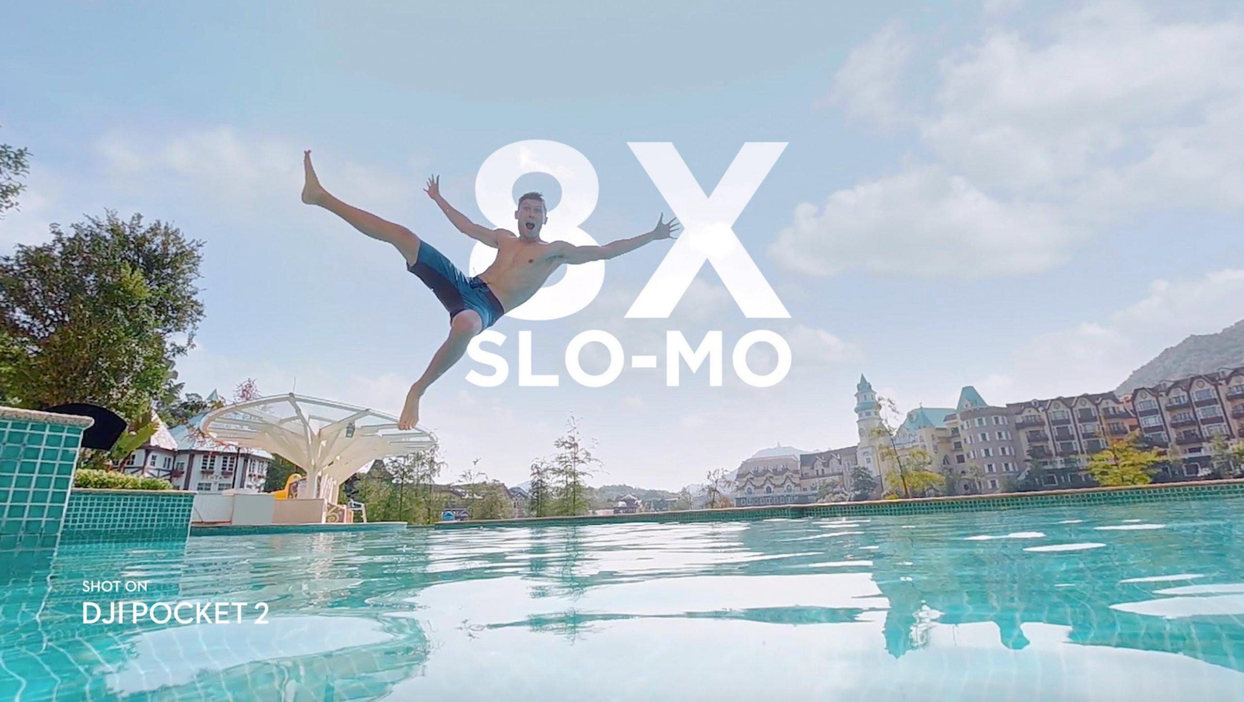 DJI Pocekt 2 8X slow motion