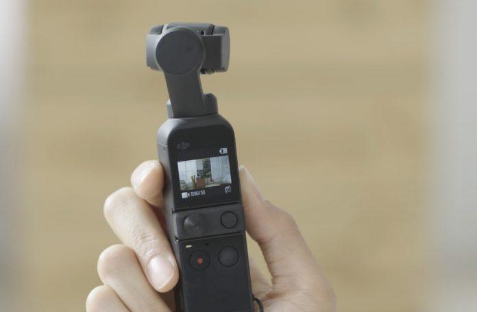 DJI Pocket 2 control screen