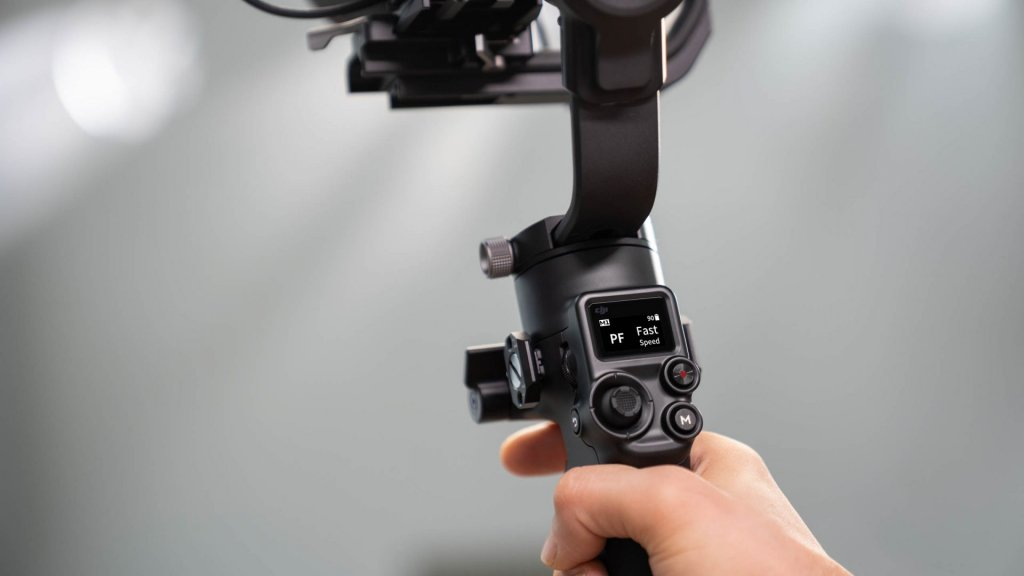camera gimbal in-built screen