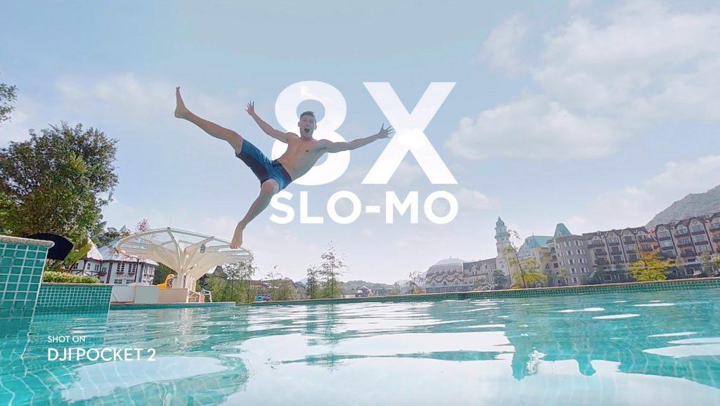 DJI Pocket 2 8X slow motion