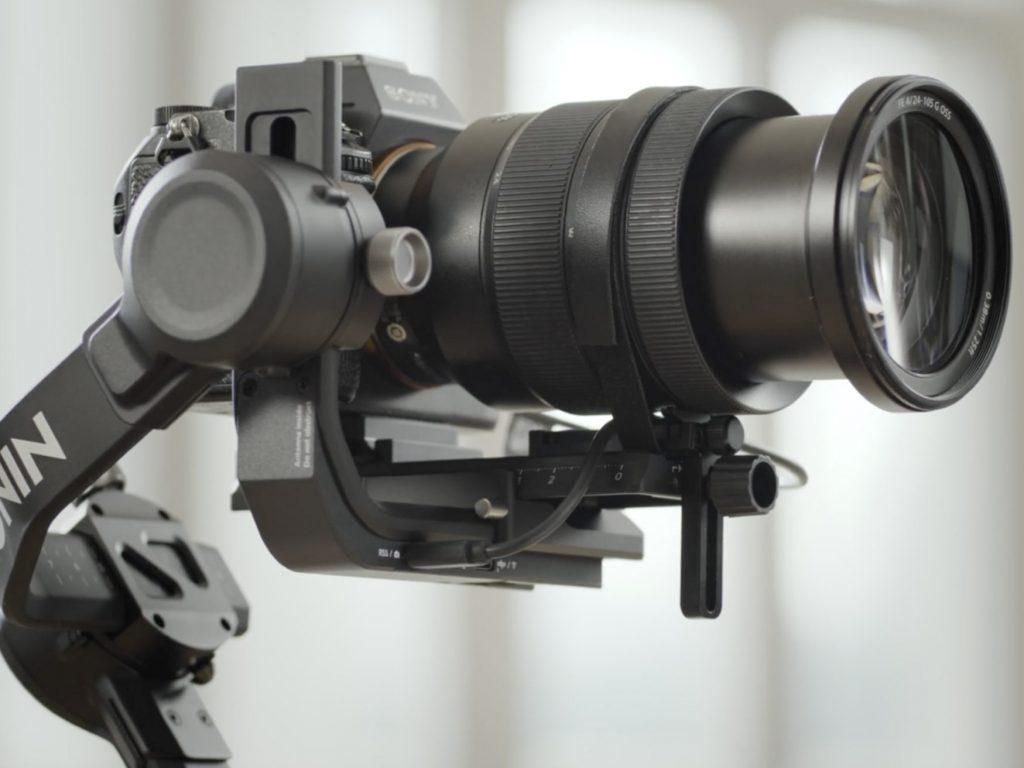 camera gimbal focus motors and gear strip