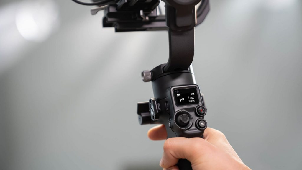 camera gimbal in-built screen